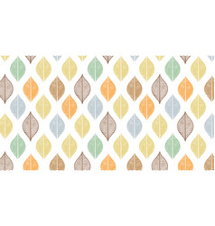 Cute autumn leaf pattern abstract banner vector