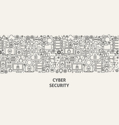 cyber security banner concept vector image