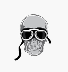 Dead biker graphic print Motocycle helmet and vector