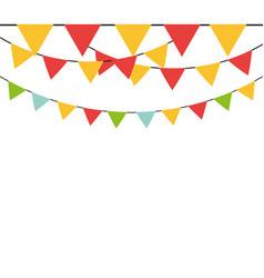 decorative pennants frame vector image
