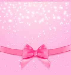 decorative pink bow background vector image vector image
