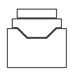 documents archieve or drawer black icon vector image