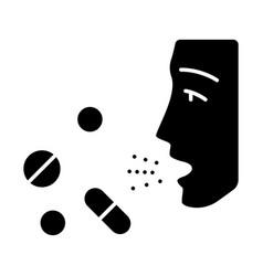 Drug allergies glyph icon vector