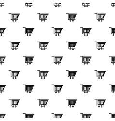Empty plastic market trolley pattern vector