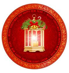 festive christmas greeting design vector image