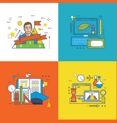 finance success at work education and innovation vector image