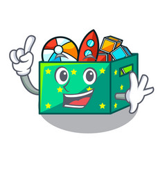 Finger children toy boxes isolated on mascot vector