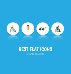 Flat icon disabled set of spectacles stand vector