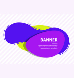Fluid shape wavy liquid for banner or template vector