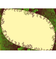 Frame with floral elements in green hues vector
