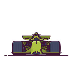 front view of sport racing car vector image