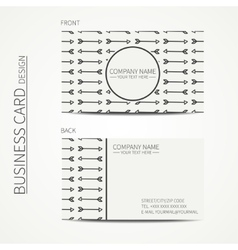 Geometric monochrome business card template with vector image