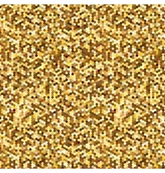 Gold glitter shine texture on a white background vector image