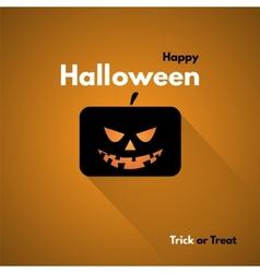 Happy Halloween Label with Pumpkins vector image