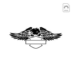Harley davidson emblem or icon abstract isolated vector