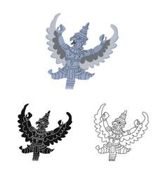 Isolated object garuda and bird logo vector
