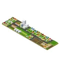 Isometric city landscape vector