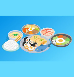 korean food clip art isometric style vector image