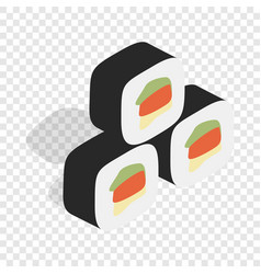 korean food kimbap isometric icon vector image