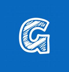 Letter w logo on blueprint paper background vector