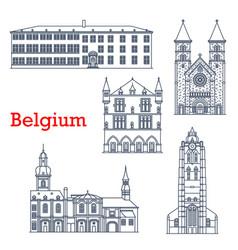 luxembourg landmark travel architecture echternach vector image