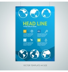 Maps brochure flyer design templates vector