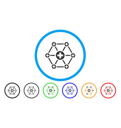 medical network rounded icon vector image