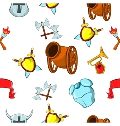 Medieval armor pattern cartoon style vector