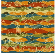 modern fish pattern vector image