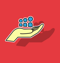 Myspace social network sticker icon vector