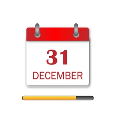 Newyear Day Calendar Icon vector