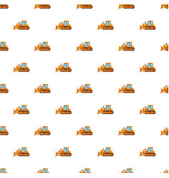 Orange bulldozer pattern vector