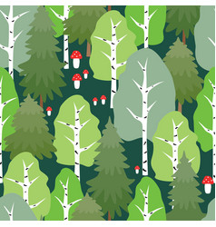 Pattern of the summer forest vector