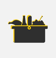 picnic basket icon isolated on white background vector image