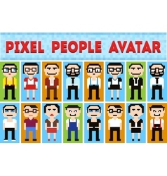 pixel cartoon vector image
