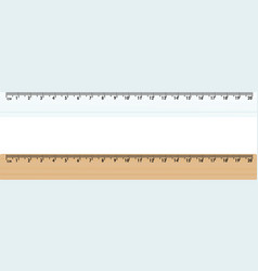 plastic and wooden ruler vector image