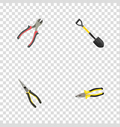 Realistic nippers forceps spade and other vector