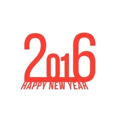 red happy new year 2016 vector image vector image