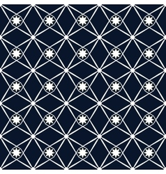 Rhombus and star seamless pattern vector image