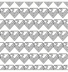 seamless black and white minimal diamonds pattern vector image