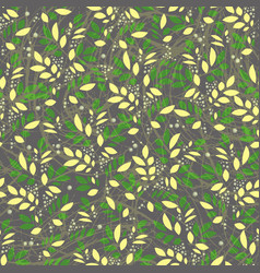 seamless leaves and floral vintage textured vector image