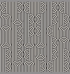 seamless monochrome waving pattern abstract vector image