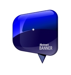 Shiny gloss blue 3d banner vector image