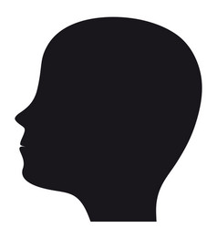 Silhouette a man s head on a white background vector
