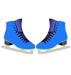 Skates for figure skaters vector