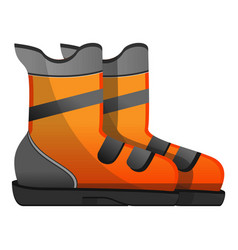 ski boots icon cartoon style vector image
