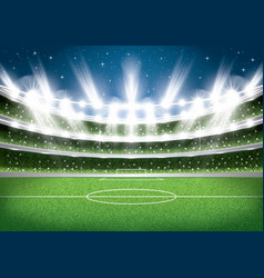 Soccer stadium football arena vector