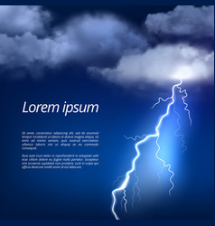 Storm background thunderstorm weather rainy vector