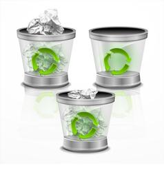Trash bin vector image