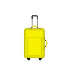 Travel suitcase in yellow design vector